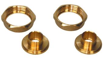 Set of Solder Couplings Brass Ø 22 mm