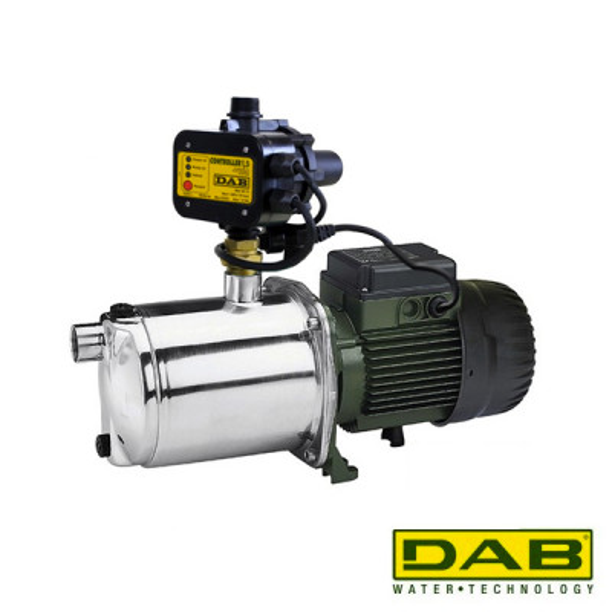 DAB EuroInox 40/50 M + DAB Presscontrol + Bekabeling