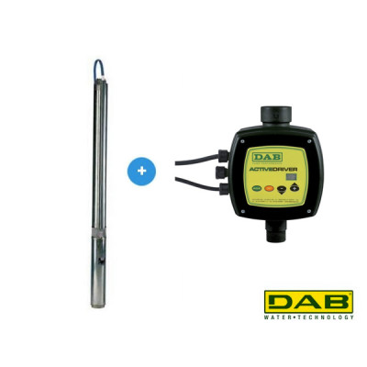 DAB S4B 12 M KIT + Active Driver Bronpomp