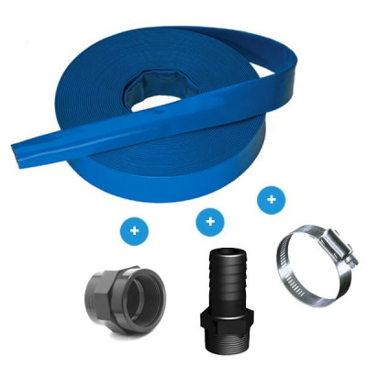 "5m flat drain hose - 1.5"" (40 mm)"