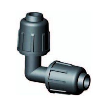Druppelslang klemkoppeling knie 90º 16 mm