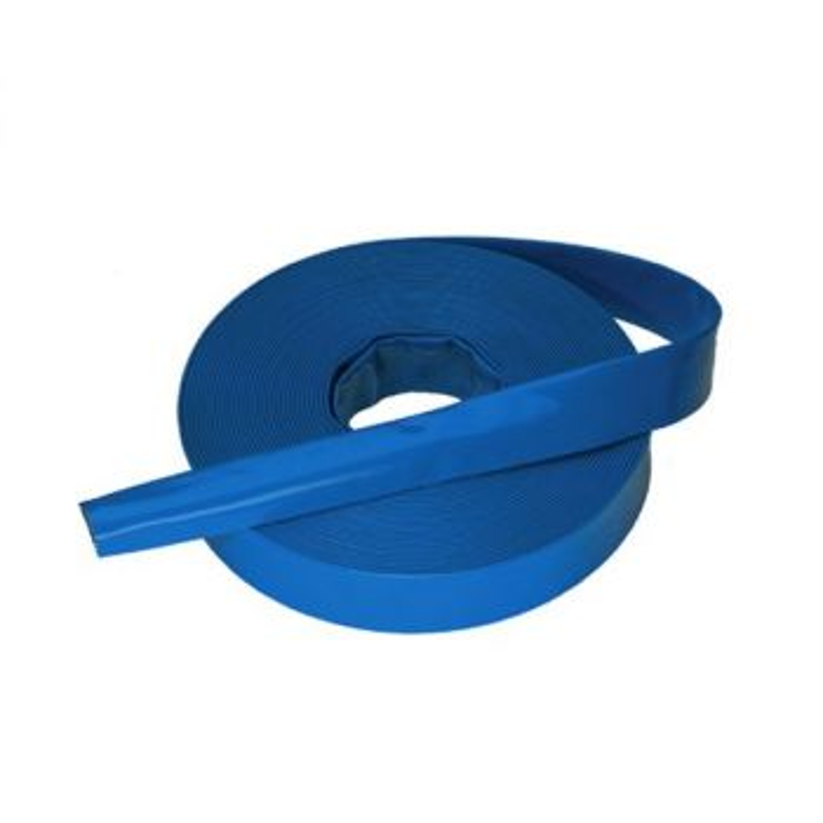 "One hundred-metre, 1.5"" (40 mm) flat drain hose"
