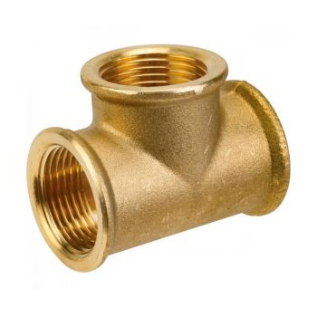 "T-connector brass 1 ¼"" (female thread)"