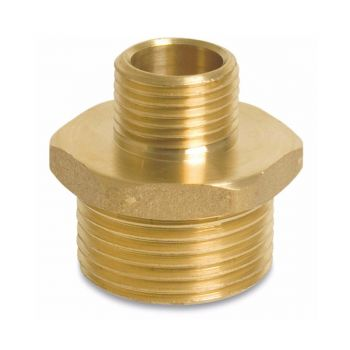 "Reducing nipple brass from 1 ¼"" to 1 ½"""