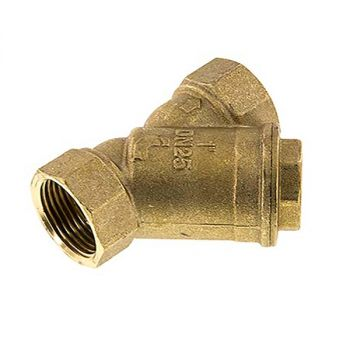 Brass pre-filter to block sand and solid particles - 1 ¼""