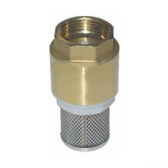 Suction strainer with foot valve