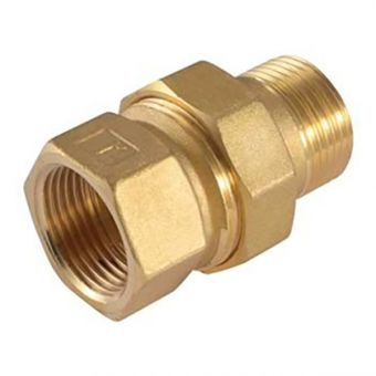 Three-piece coupling brass 1""