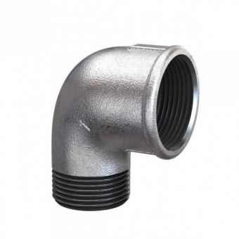 Elbow 90º Galvanized steel 1,5""
