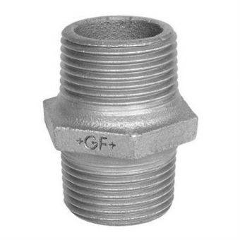 Double nipple galvanised 1 ½""