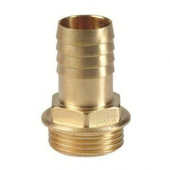 "Hose socket brass 25 mm (1"" male thread)"